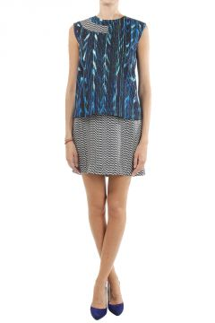 Sleeveless abstract pattern Dress