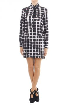Long sleeved abstract pattern Dress