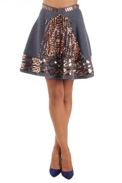 Wool skirt with sequins