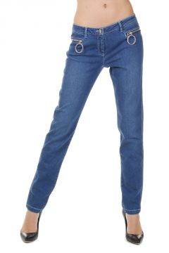15 cm Stretch Denim Capri Jeans