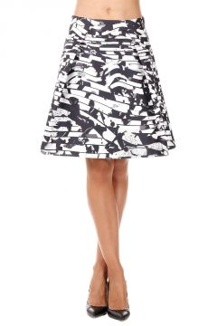 Abstract Pattern A-line Skirt