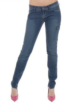 Jeans Effetto Vintage Misto Cotone