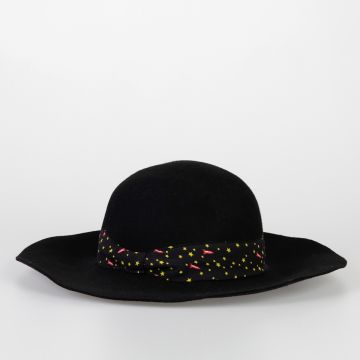 Wool Hat with Star Printed Detail