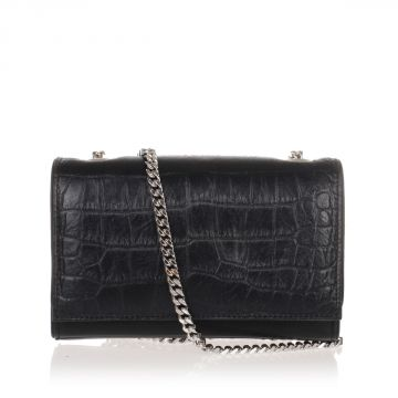 Crocodile Printed Leather Pochette