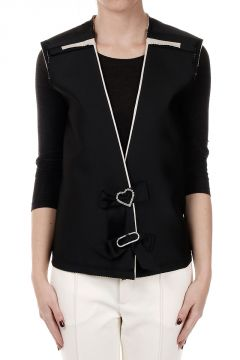 Gilet With Jewel Details
