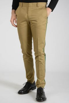Lateral Band Cotton Pants