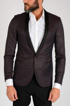 Mixed Wool Glitter Blazer