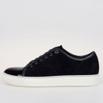 Suede e Patent Leather Low Sneakers