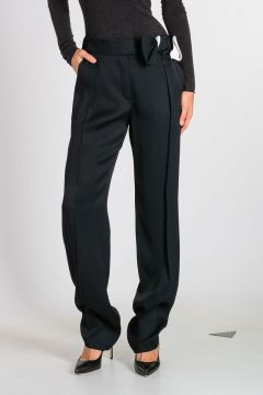 Pleated Trouser with Bow