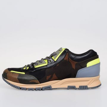 Leather and Nylon CROSS-TRAINER Low Sneakers