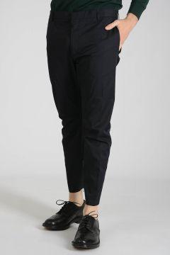 Cotton Ankle Zipped Pants