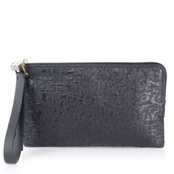 Fabric Clutch Bag with Handle