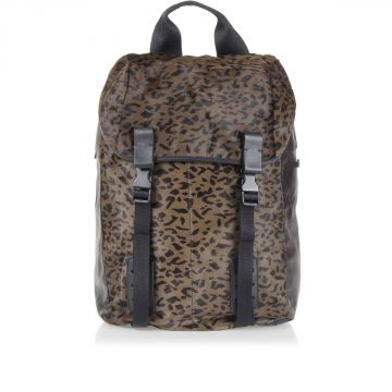 Printed ponyskin Backpack