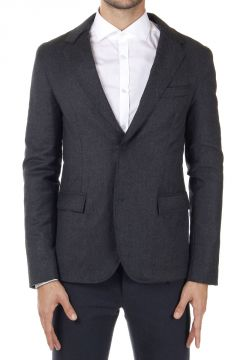 Padded wool and cashmere jacket