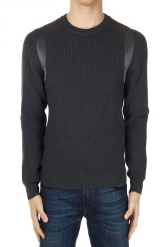 Wool Sweater with Satin Inserts