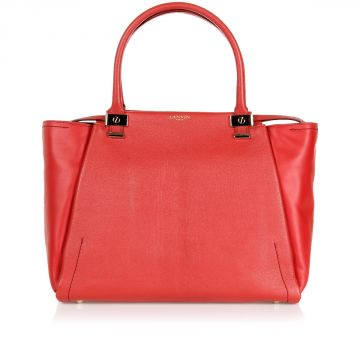 Leather TRILOGY TOTE Hand Bag