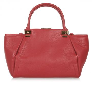 Leather TRILOGY TOTE Handbag