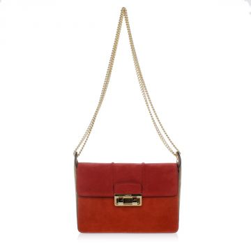 JIJI CHAIN Chamois Leather Small Shoulder-Bag