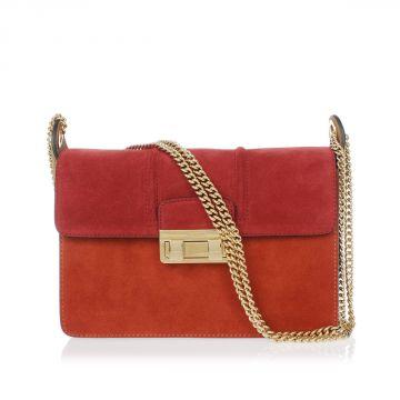 JIJI CHAIN Chamois Leather Small Shoulder-Bag