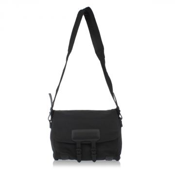 MESSENGER Grained Leather Shoulder-Bag