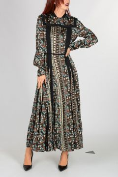 Geo Printed Long Dress
