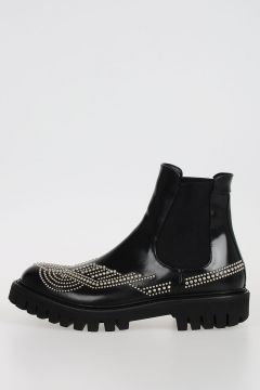 Leather Boots with Stud