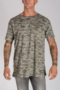 Camouflage Print Jersey Cotton T-shirt