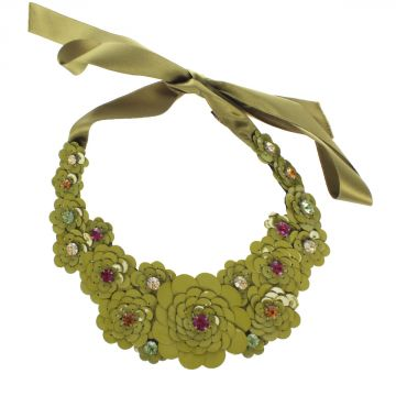 Floral MAIA Necklace with Jewels