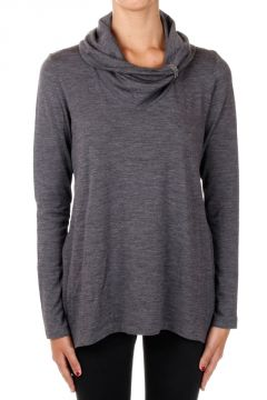 Stretch Wool High Neck Sweater