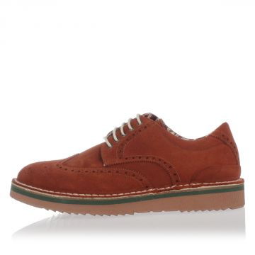 Brogue Suede Leather Derby Shoes
