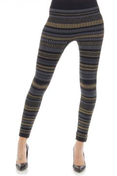 Leggings stretch fantasia a righe