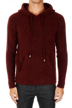 Mohair Blend Hooded Sweater