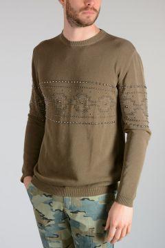 Studded Knit Sweater