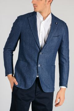 BASE BLU Cotton and Linen Blazer