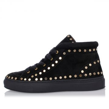 Sneakers In Pelle con Borchie