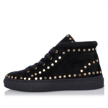 Sneakers In Pelle con Borchie
