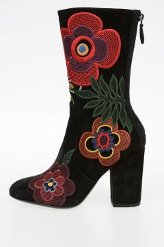 Suede Leather INSOLENTE Boots 9 cm