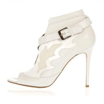 Sandalo in Pelle Verniciata Tacco 11 cm