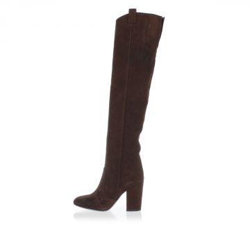 Suede Boots Heel 8 cm
