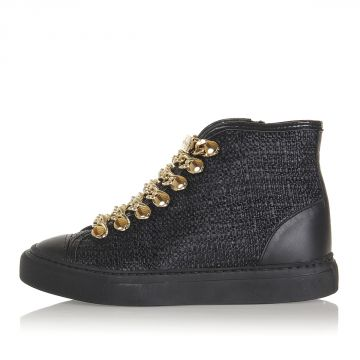 Sneakers Alte CECILE con Catene Dorate