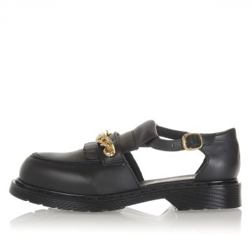 Leather AUDREY Shoes with Clamp