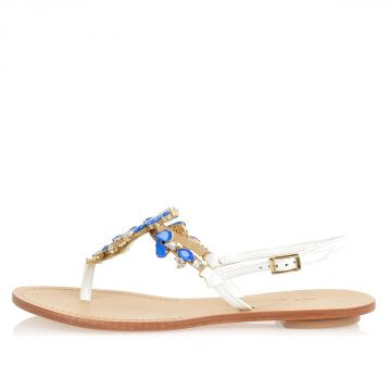 Leather NOA sandals with Jewels Inserts