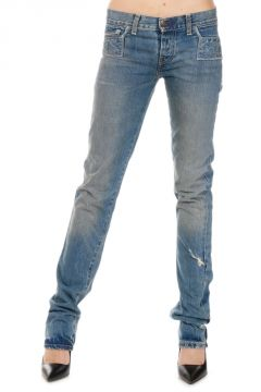 Super slim Vintage Effect Denim JAIL BAIT Jeans 15 CM