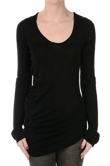 Wool Long Sleeve Asymmetric cut Sweater