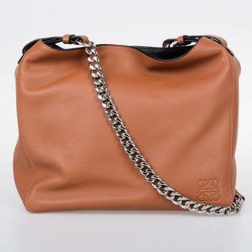 V BUCKET Leather Shoulder Bag