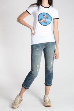 T-shirt CIRCLE PATCH In Cotone  Stretch