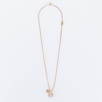 ANAGRAM Polished Rose Gold Necklace