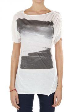 """T-Shirt con Stampa """"WHITE-SEA"""""""