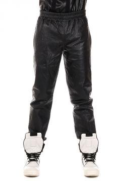 Pantaloni Loose Fit in Pelle