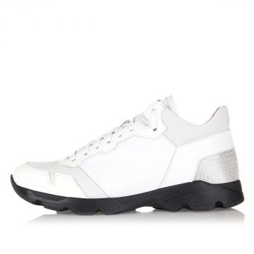 Techno Fabric and Leather RYFF Sneakers